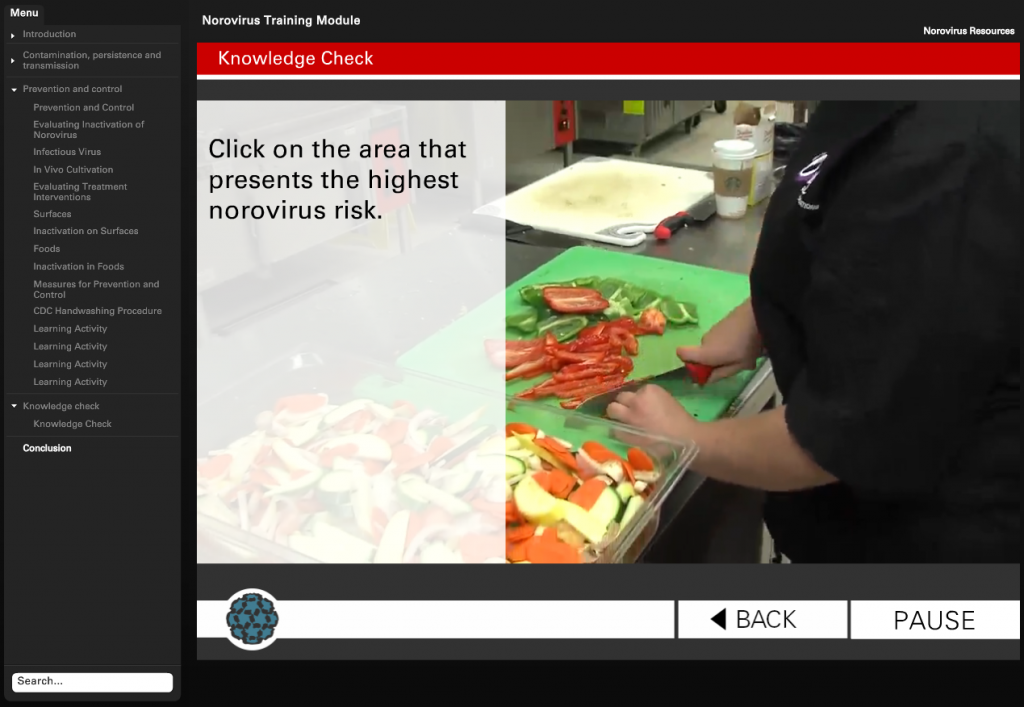 Learn more about this online mini-course at http://foodsafety.ncsu.edu/norovirus